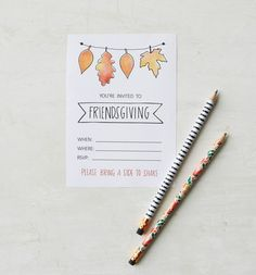 If you're hosting a celebration this year, these printable invitation cards are the perfect way to invite your guests; just print them out, fill in the details, and pop in the mail! We have invitations for any style of gathering! #friendsgiving #friendsgivinginvitations #printableinvites #bhg Invitation Cards, Invitations, Youre Invited, Rsvp, Fill, Celebration, Thanksgiving, Printable, Style
