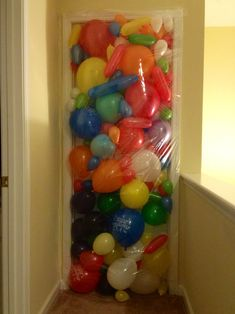 My kids birthdays are coming up soon and I am thinking about doing this. Boy will they be surprised when they open their bedroom door on the morning of their birthdays!!