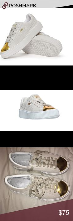 FENTY Puma creepers! Suede, luxurious. Puma suede creepers. Super unique sneakers, very luxurious with a platform. So stylish and unique. Puma Shoes Platforms