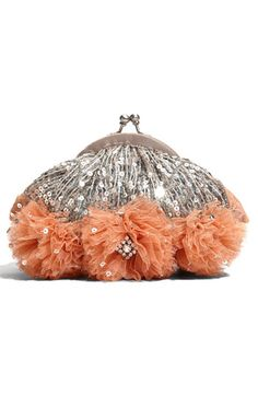 Santi Sequin Frame Clutch - dainty, shiny, and cute! Love kiss-lock closures.
