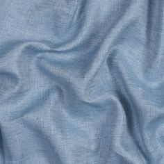 Heathered Baby Blue Cotton Twill