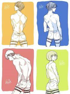 Eren, Levi, Jean and Armin. Shingeki no Kyojin