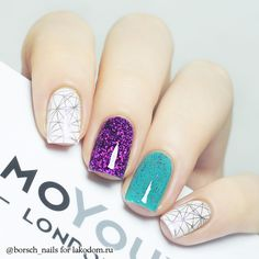 Geometric Nail Designs Ideas nagel purple and teal geometric nail art 2799609 weddbook Geometric Nail Designs. Here is Geometric Nail Designs Ideas for you. Elegant Nail Art, Beautiful Nail Art, Gorgeous Nails, Love Nails, Square Acrylic Nails, Square Nails, Uñas Fashion, Geometric Nail Art, Luxury Nails