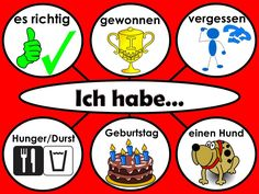 "Using ""Ich habe ...""in different constructions"