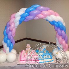 Stretch & Company Balloon Decor Mini Table Column www.stretchc.com