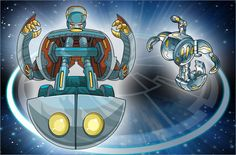 Mega Brontes was Volt Luster's Guardian Bakugan. It is a clown-like Bakugan that has great...