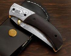 Damascus Folding Knife Handmade Damascus Steel Pocket Knife | eBay