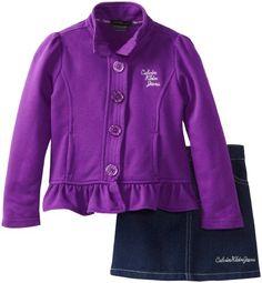 Calvin Klein Little Girls' Jacket with Denim Skirt, Purple, 3T Calvin Klein http://www.amazon.com/dp/B00CTGBOR6/ref=cm_sw_r_pi_dp_7nGlub0C4SQH4