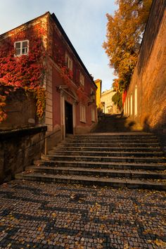 Steps to the Castle, Prague.
