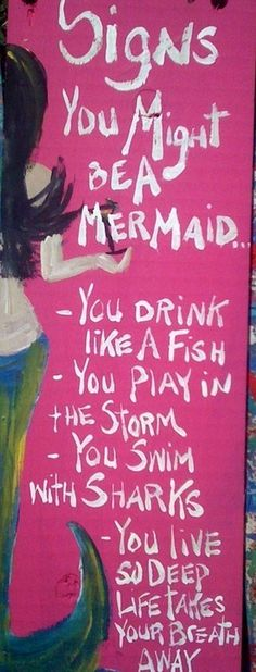 i'm definately a mermaid