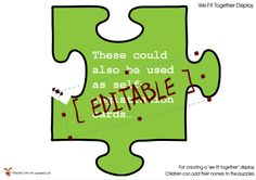 Teacher's Pet Displays » Editable Jigsaw Pieces » FREE downloadable EYFS, KS1, KS2 classroom display and teaching aid resources » A Sparklebox alternative