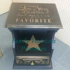Cute night stand now in at Hocking Hills Crafts & More. Www.facebook.com/familytraditionsprimitives