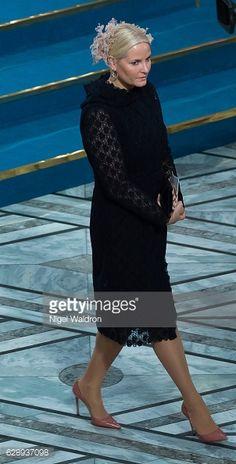 Crown Princess Mette Marit attends the 2016 Nobel Peace Prize ceremony.