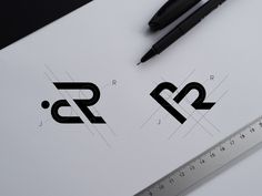 J+R designed by Irina Kolosovskay. Connect with them on Dribbble; the global community for designers and creative professionals. Ad Design, Graphic Design, Logo Word, Logo Sketches, Typographic Logo, Marca Personal, Geometric Logo, Logo Design Inspiration, Branding