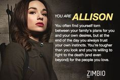 What teen wolf character are you? I am Allison