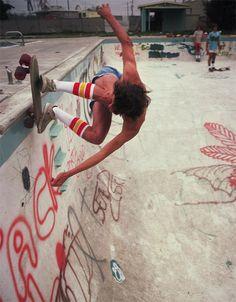 70s concrete pool skateboarding