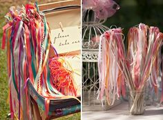 Ribbon wands for the grand exit :)