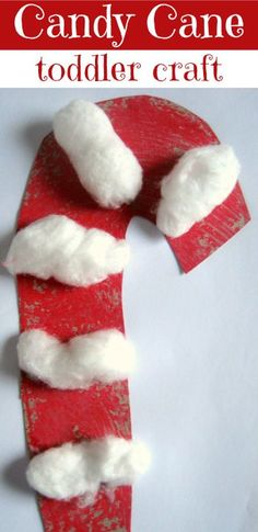 Cute candy cane craft for toddlers