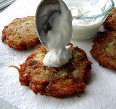 Roasted Garlic and Herb Potato Latkes