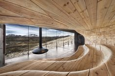 Tverrfjellhytta by Snøhetta. A reindeer observatory in Norway, named building of the year cultural category (arch daily poll).