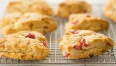 Vanilla Bean Rhubarb-Ginger Scones   browneyedbaker.com