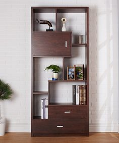 Look at this #zulilyfind! Vintage Walnut Vallio Industrial Bookcase by Furniture of America #zulilyfinds