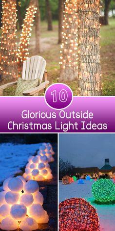 10 glorious Outside Christmas Lights Ideas