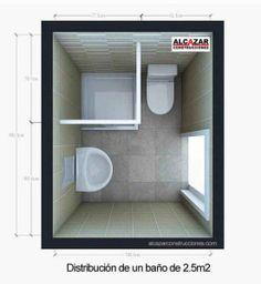 Distribucion Baño Pequeño | Distribucion De Banos Pequenos 3 Banos En 2018 Pinterest
