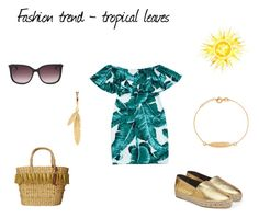 Fashion trend - tropical leaves by netstylistka on Polyvore featuring moda, Kenzo, White Stuff and Moschino