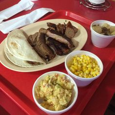 Just look at this plate from Mud Creek BBQ, holy moly!