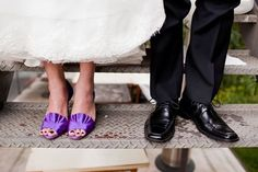 Purple shoes. Style Me Pretty   Gallery