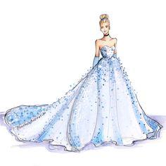 """The Glass Slipper"", by Holly Nichols Disney Princess Fashion, Disney Princess Drawings, Disney Princess Art, Disney Princess Dresses, Disney Drawings, Disney Style, Dress Design Sketches, Fashion Design Drawings, Fashion Sketches"