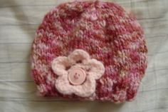 newborn beanie with crochet flower