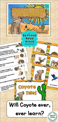Fun Activities with a wonderful Native American Coyote folktale.   $