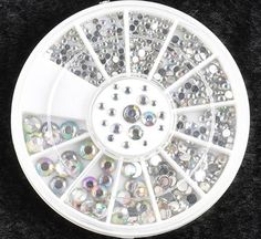 1 Sets First Class Popular 3D Acrylic Rhinestones Nails Art Wheels Full Design Manicure Primer Salon Supplies Pattern Style -04 *** To view further for this item, visit the image link.