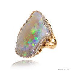 Kimberly McDonald Crystal Opal(85ct.) and Diamond Ring