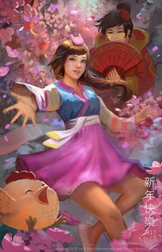 Overwatch Happy Chinese new Year by andyliongart.deviantart.com on @DeviantArt