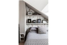 Granit - Ringford Road - Loft bedroom uses the limited space to their advantage with interesting storage spaces. Extension Designs, House Extension Design, House Design, Bedroom Loft, Master Bedroom, Home Renovation, Home Remodeling, Victorian Kitchen, House Extensions