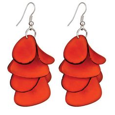 Ayllu Earrings Orange now featured on Fab. Empowering women in Peru with eco-friendly designs!