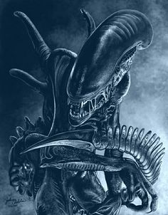 Xenomorph by freakingfabulous on DeviantArt Holy cow! I can't believe I actually managed to get this done. I've worked on this one so slowly, trying not to rush. I have always been a fan of the Alien franchise since I was a little boy. I sti. Alien Vs Predator, Predator Alien, Predator Cosplay, Giger Art, Hr Giger, Arte Alien, Alien Art, Alien Concept, Concept Art