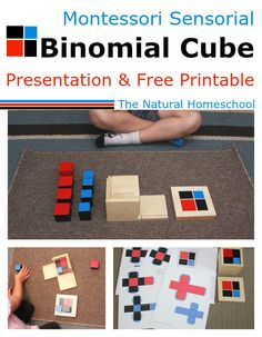 Here is the Binomial Cube, which is a visual and tactile work. You will see a step-by-step presentation and a free printable for you! I hope you enjoy it!