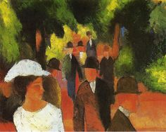 August Macke, 1914, Promenade