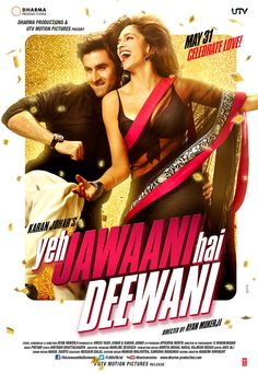 Yeh Jawaani Hai Deewani is a story of the exhilarating and terrifying journey of four characters – Bunny, Naina, Aditi and Avi, as they navigate through their youth; from their carefree laughter as they set off on a holiday together in their colleges days, until their bittersweet tears as they watch the first of their bunch get married.