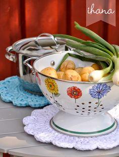 Serving Bowls, Crochet, Tableware, Diy, Crafts, Design, Knitting, Dinnerware, Manualidades