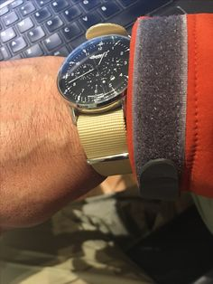 Ingersoll Houston with cream NATO strap