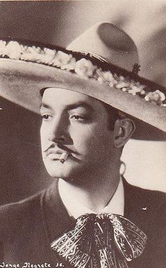 Jorge Negrete - Mexico: My parents bought me a cassette tape of his music, One of our favorites. Mexican Heritage, Mexican Style, Mexican Men, Mexico People, Latino Art, Mexican Artists, Mexican Designs, Mexican American, Chicano