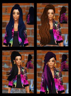 26 MORE BRAIDED HAIRS!! obviously all braided... - my sims 4 custom content