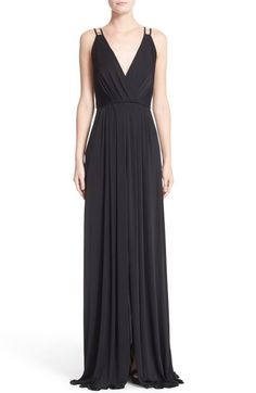 Versace Embellished Matte Jersey Gown available at #Nordstrom