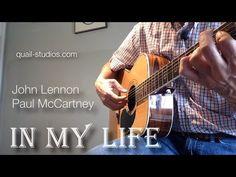 In My Life - Guitar Lesson, Lennon-McCartney Acoustic Guitar Strap, Acoustic Guitar Lessons, Guitar Tips, Guitar Songs, Acoustic Guitars, Guitar Chords, John Lennon Paul Mccartney, John Lennon Beatles, The Beatles