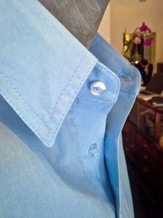Cotton shirt detail. Chef Jackets, Detail, Cotton, Shirts, Fashion, Moda, Shirt, Fasion, Dress Shirts
